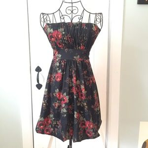 Floral Print Strapless Dress from American Rag